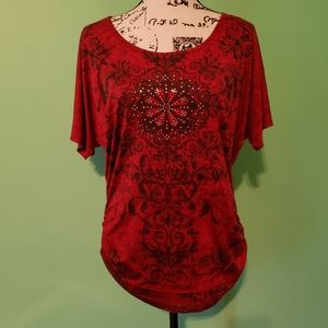 SALE 7 FOR $20 Lavis Rouched Top size Large